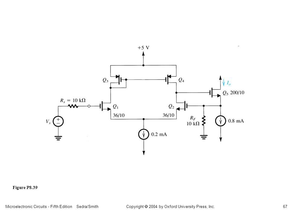 Microelectronic Circuits - Fifth Edition Sedra/Smith67 Copyright 2004 by Oxford University Press, Inc. Figure P8.39