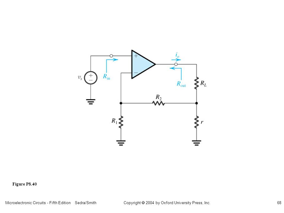 Microelectronic Circuits - Fifth Edition Sedra/Smith68 Copyright 2004 by Oxford University Press, Inc. Figure P8.40