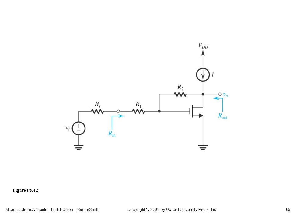 Microelectronic Circuits - Fifth Edition Sedra/Smith69 Copyright 2004 by Oxford University Press, Inc. Figure P8.42