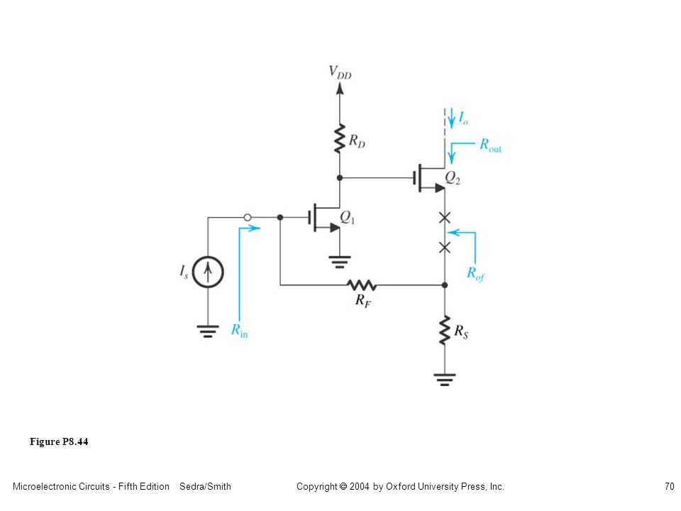 Microelectronic Circuits - Fifth Edition Sedra/Smith70 Copyright 2004 by Oxford University Press, Inc. Figure P8.44