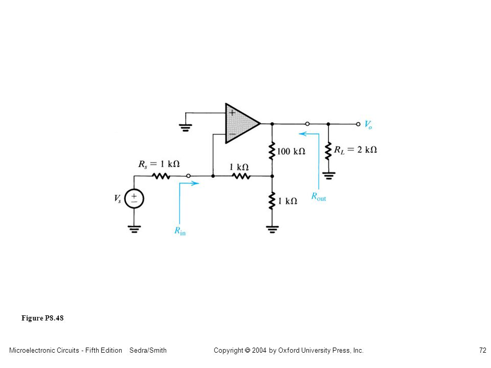 Microelectronic Circuits - Fifth Edition Sedra/Smith72 Copyright 2004 by Oxford University Press, Inc. Figure P8.48