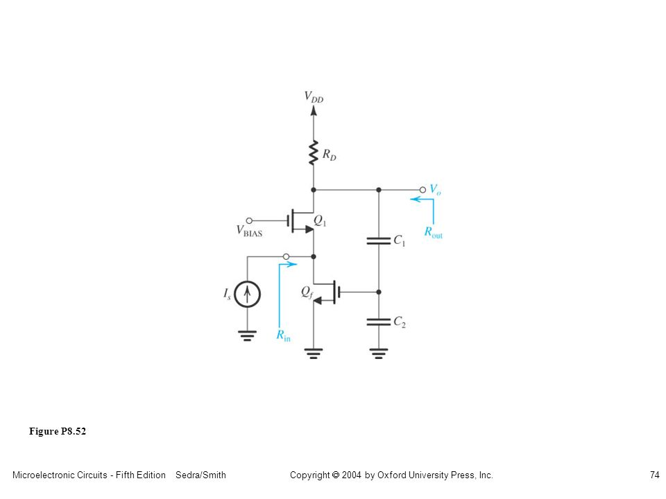 Microelectronic Circuits - Fifth Edition Sedra/Smith74 Copyright 2004 by Oxford University Press, Inc. Figure P8.52