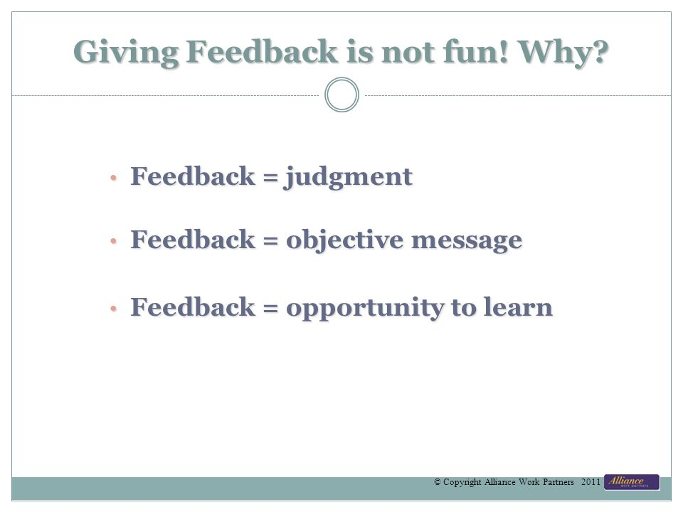 Giving Feedback is not fun. Why.