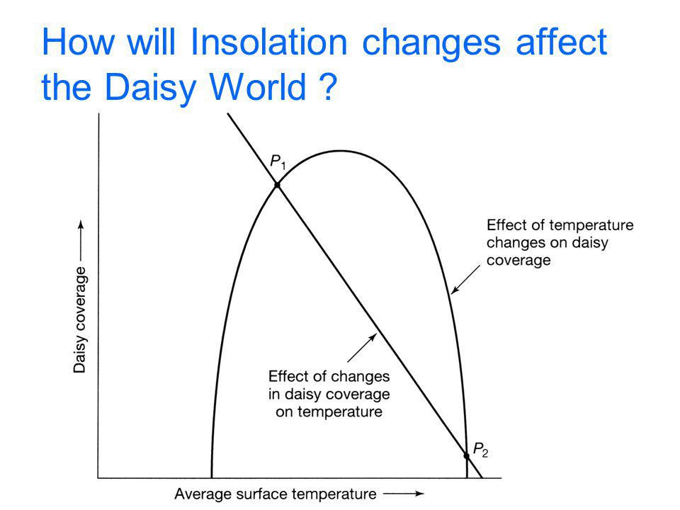 How will Insolation changes affect the Daisy World
