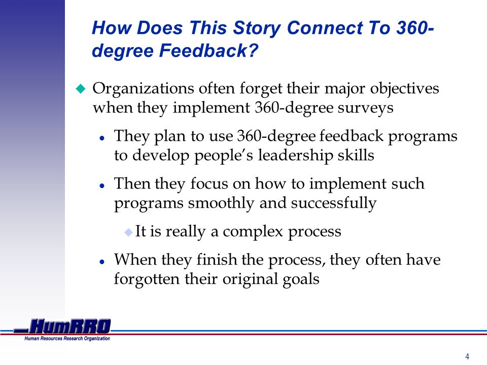 4 How Does This Story Connect To 360- degree Feedback.