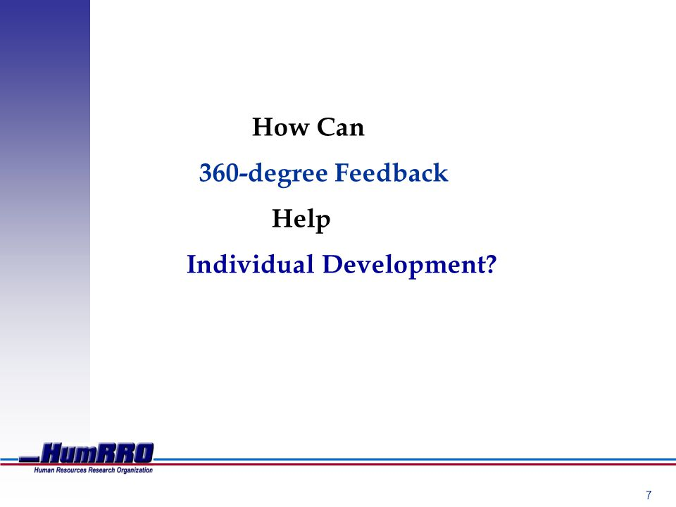 7 How Can 360-degree Feedback Help Individual Development