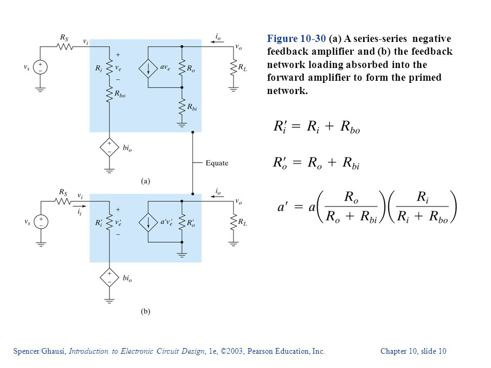 Spencer/Ghausi, Introduction to Electronic Circuit Design, 1e, ©2003, Pearson Education, Inc. Chapter 10, slide 10 Figure 10-30 (a) A series-series ne