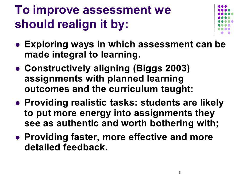 17 Helping students understand and use feedback Frequent, formative feedback impacts positively on student learning and we need to re-engineer practices to make this possible; The UK Open University inter alia is keen to promote feed- forward as well as feedback, prompting students to use advice from one assignment to inform their actions prior to the next one.