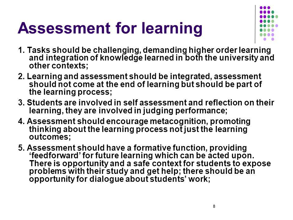 9 Assesment for learning 2 6.