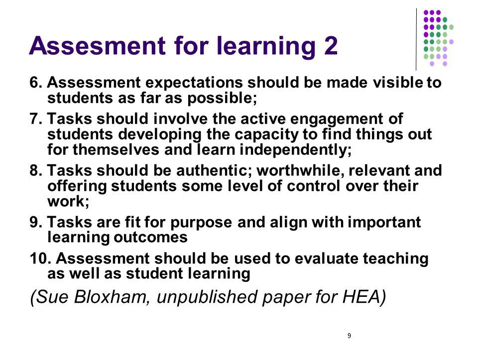 20 Learning from Graham Gibbs Assessment has more impact on how students go about studying – on the quantity and quality of effort, and on performance – than does teaching.