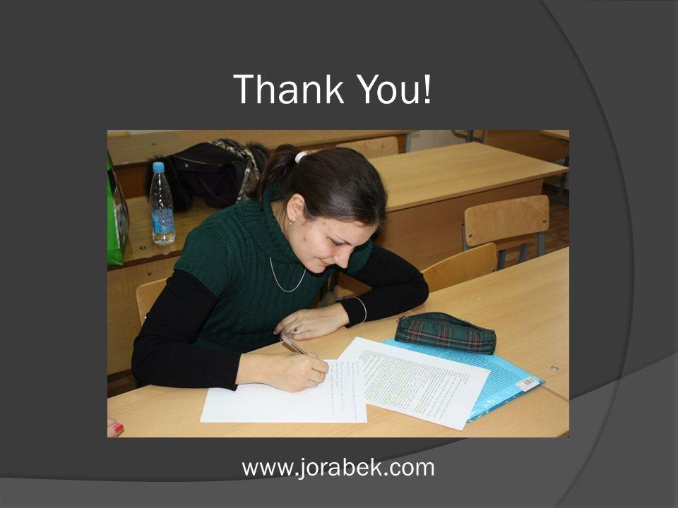 Thank You! www.jorabek.com