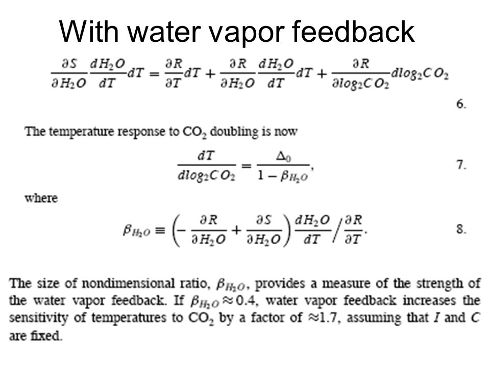With water vapor feedback