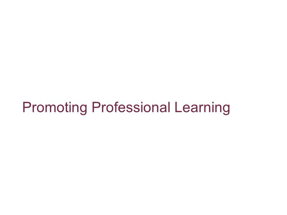 Promoting Professional Learning