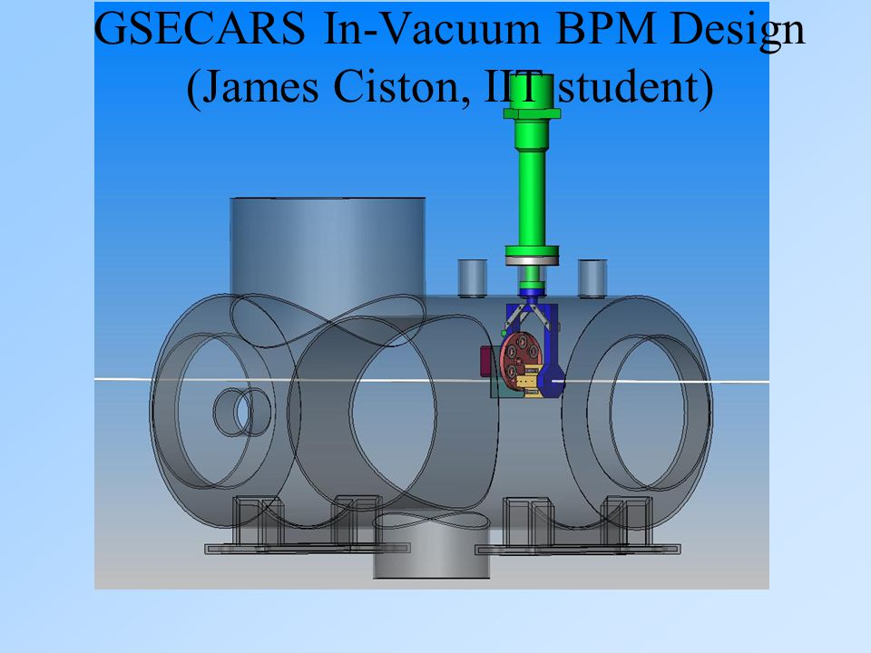 GSECARS In-Vacuum BPM Design (James Ciston, IIT student)