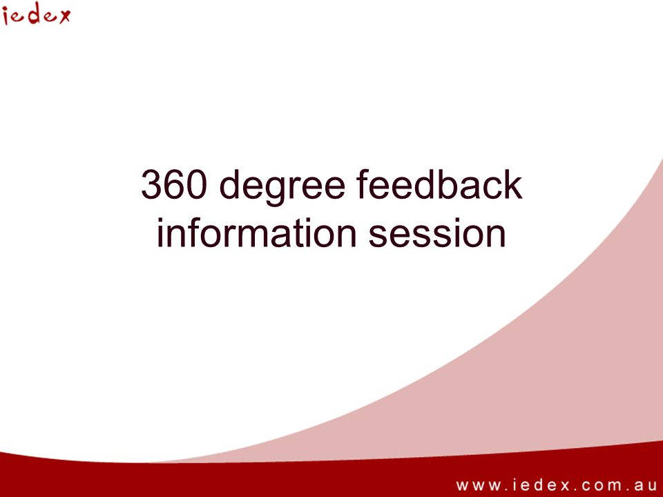 360 degree feedback information session