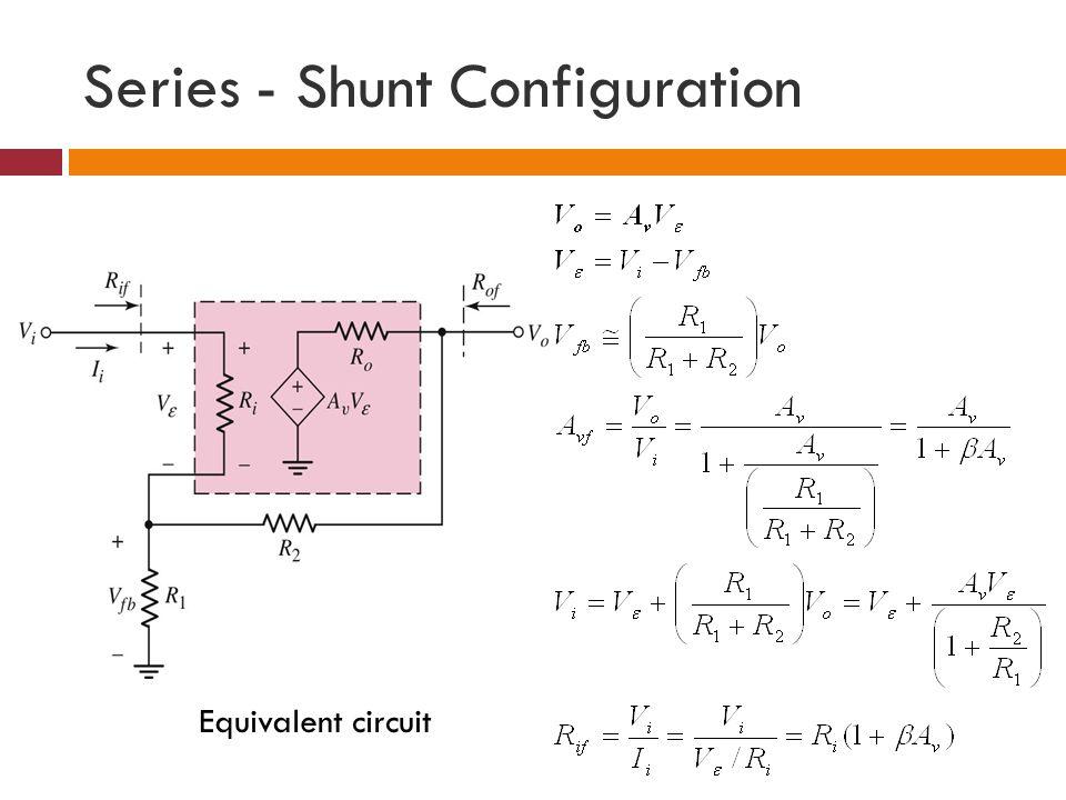 Series - Shunt Configuration Equivalent circuit