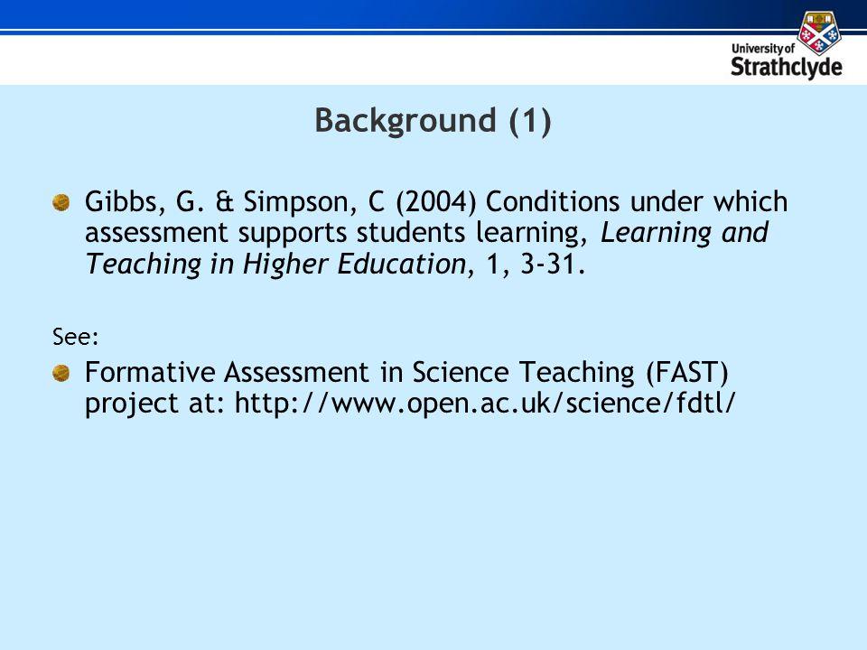 Background (1) Gibbs, G.