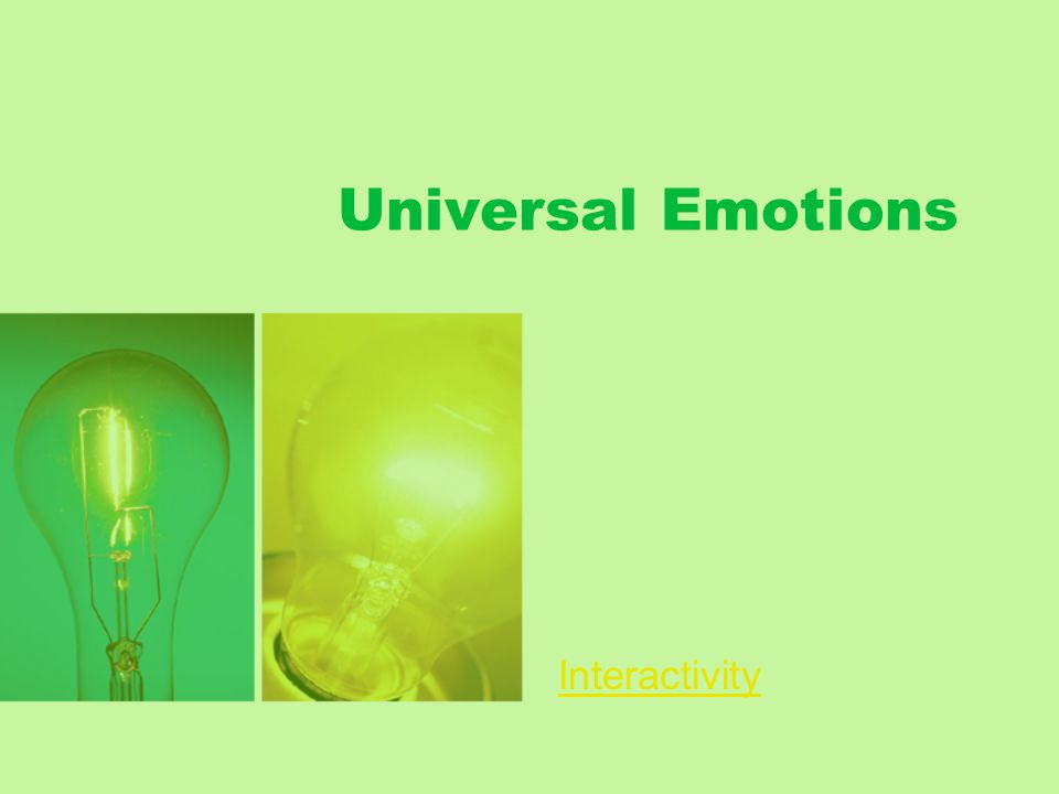 Universal Emotions Interactivity