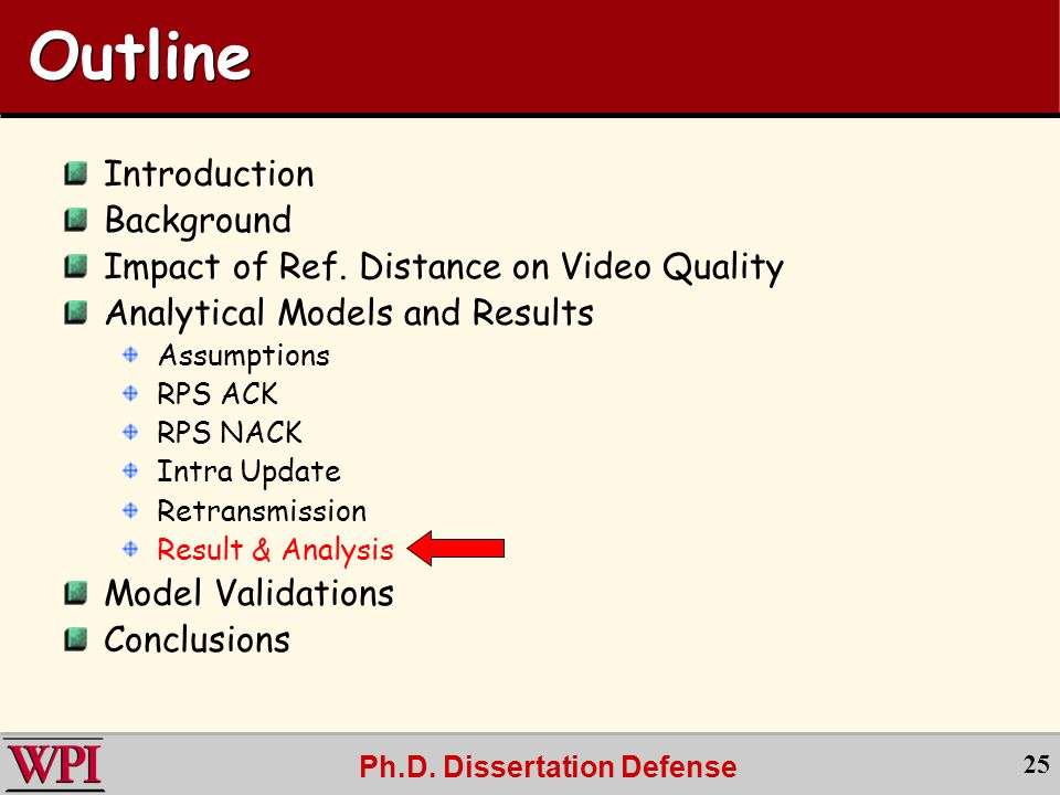 Ph.D. Dissertation Defense 25 Outline Introduction Background Impact of Ref.