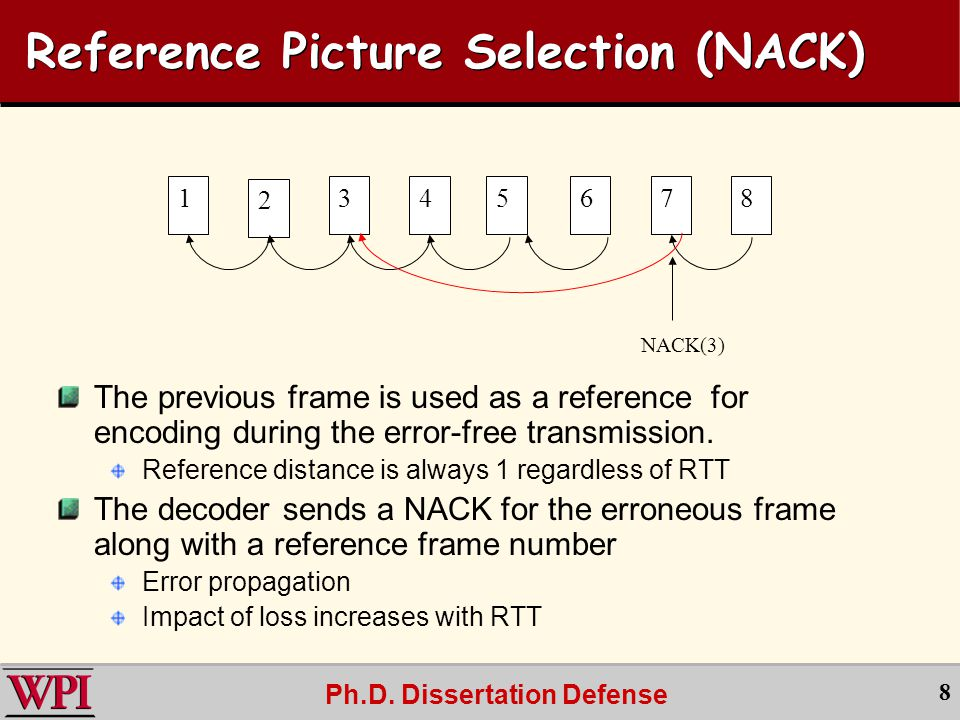Ph.D.Dissertation Defense 29 RPS NACK vs. RPS ACK Above trend line, ACK better.