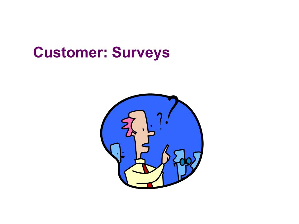 Customer: Surveys
