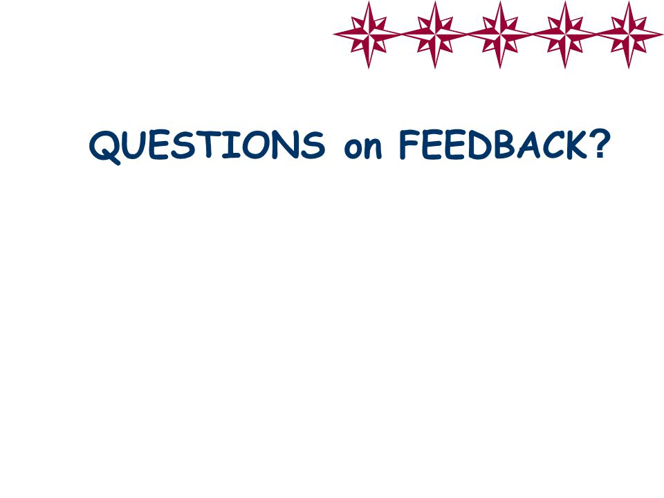 QUESTIONS on FEEDBACK