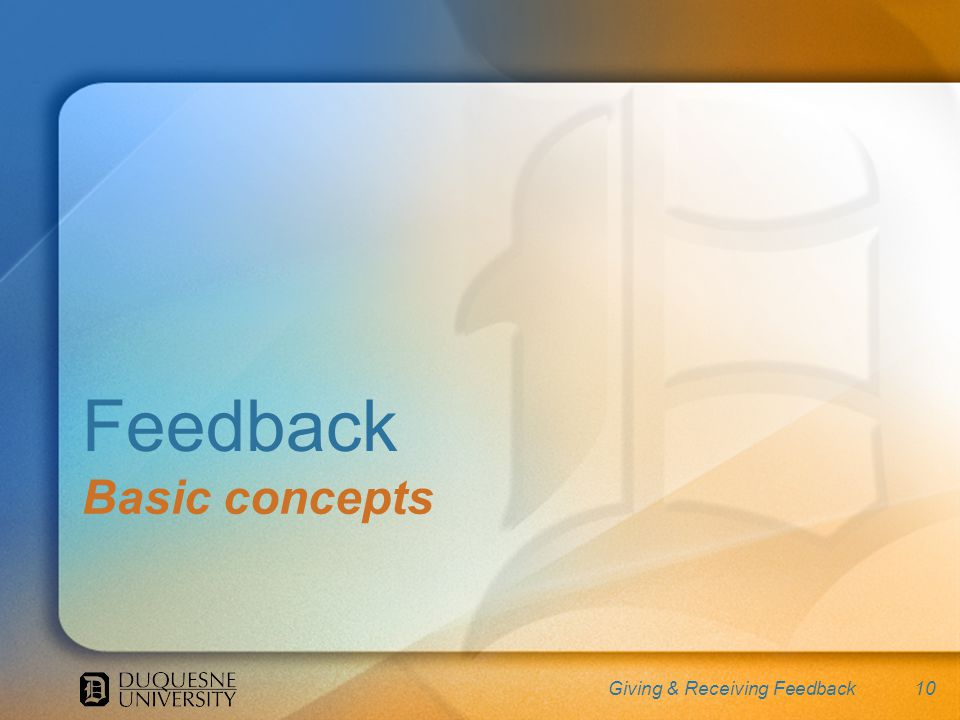 10 Feedback Basic concepts