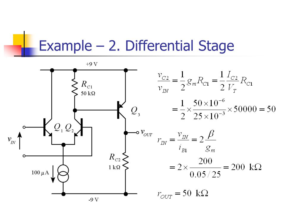 Example – 2. Differential Stage