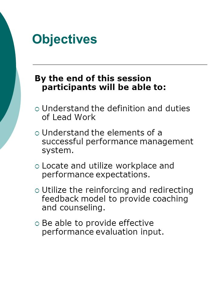 Performance Expectations Written Performance Expectations: Establish performance standards Employee performance compared to mutually understood standards The gap between expected and actual employee performance can be measured Minimize ambiguity in providing feedback regarding performance Exist whether or not they are discussed or put in writing