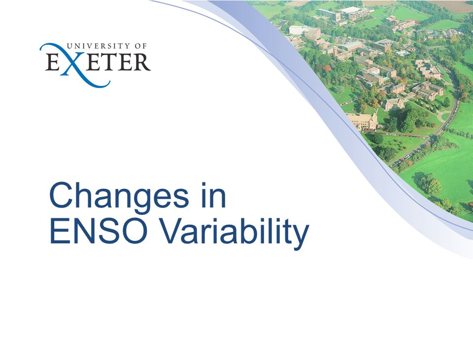 Changes in ENSO Variability