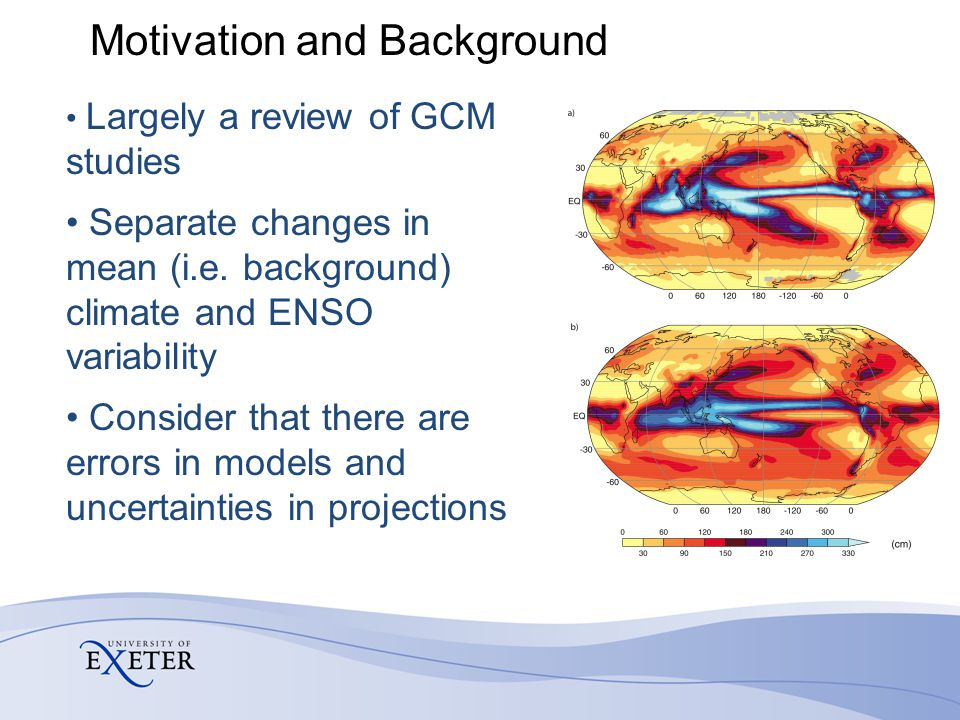 Motivation and Background Largely a review of GCM studies Separate changes in mean (i.e.