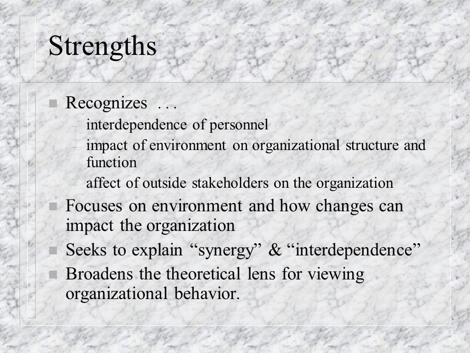 Strengths n Recognizes...