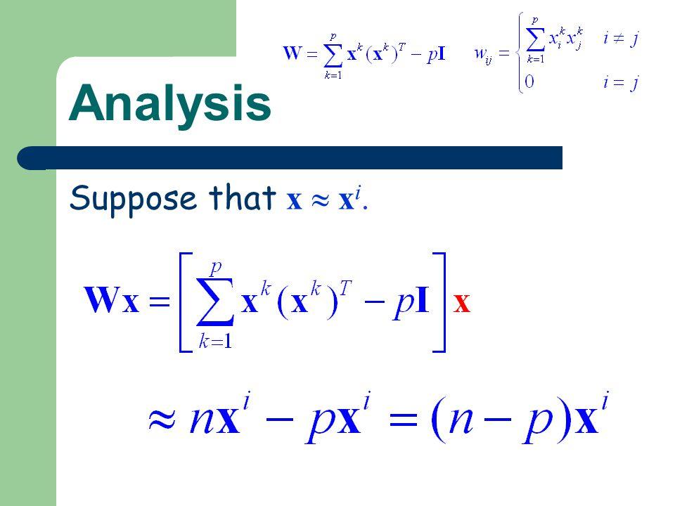 Analysis Suppose that x x i.