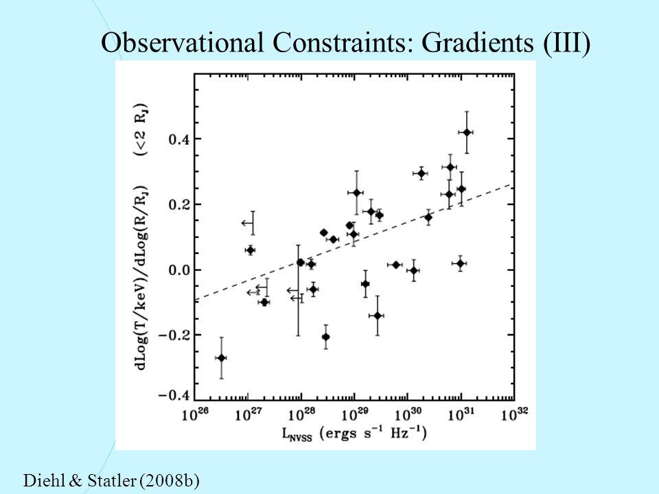 Observational Constraints: Gradients (III) Diehl & Statler (2008b)