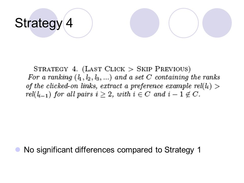 Strategy 4 No significant differences compared to Strategy 1