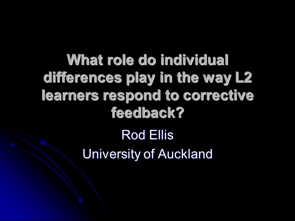 What is corrective feedback.