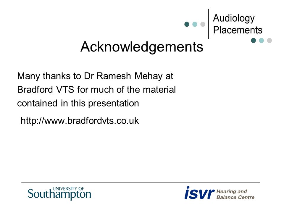 Acknowledgements Many thanks to Dr Ramesh Mehay at Bradford VTS for much of the material contained in this presentation http://www.bradfordvts.co.uk