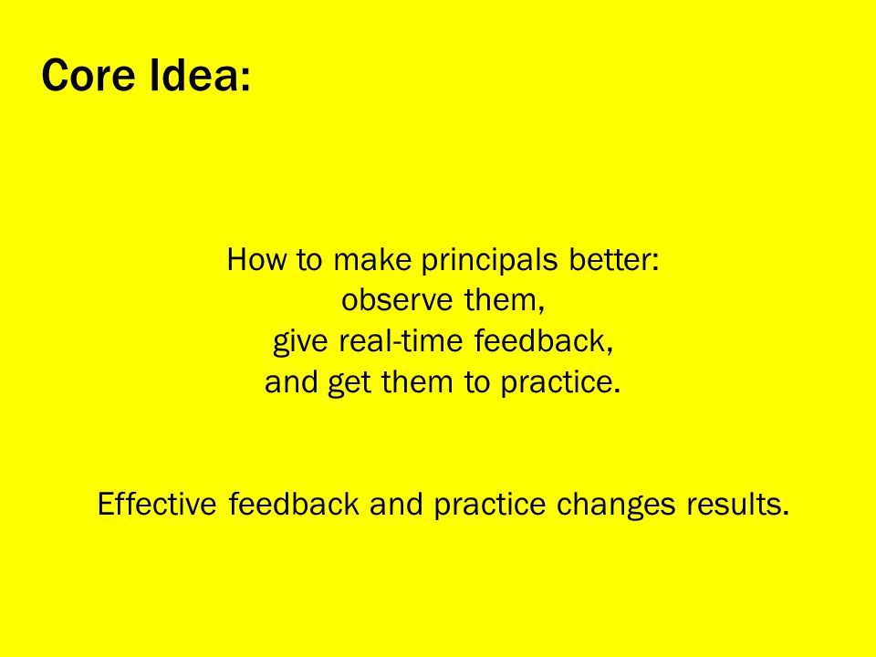 How to make principals better: observe them, give real-time feedback, and get them to practice.