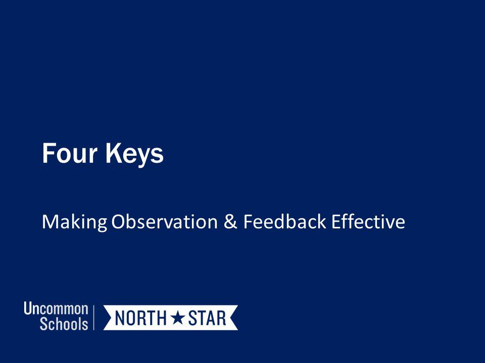 Four Keys Making Observation & Feedback Effective