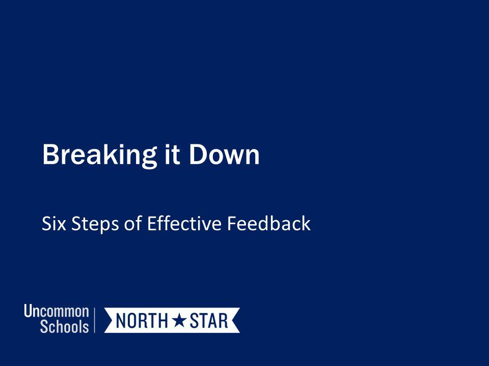 Breaking it Down Six Steps of Effective Feedback