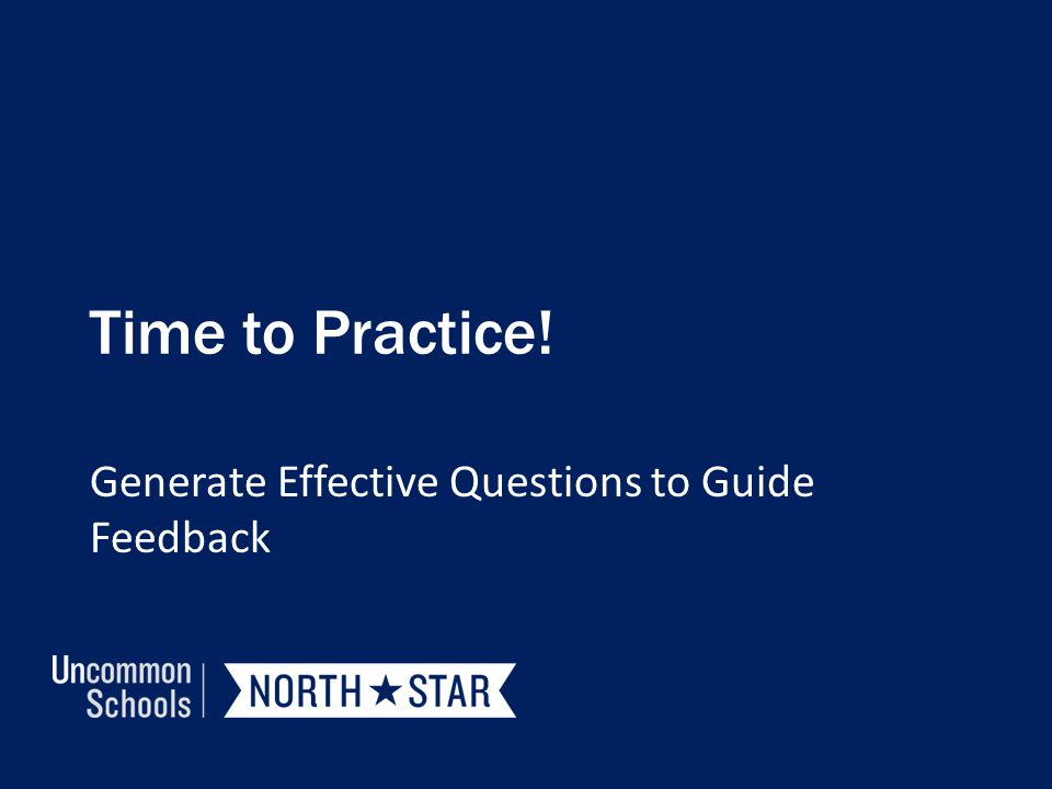 Time to Practice! Generate Effective Questions to Guide Feedback