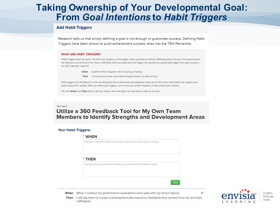 Taking Ownership of Your Developmental Goal: From Goal Intentions to Habit Triggers