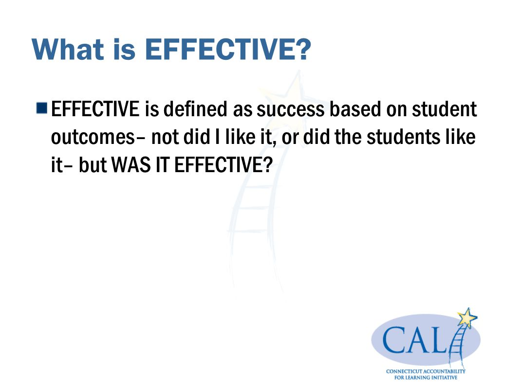 What is EFFECTIVE.