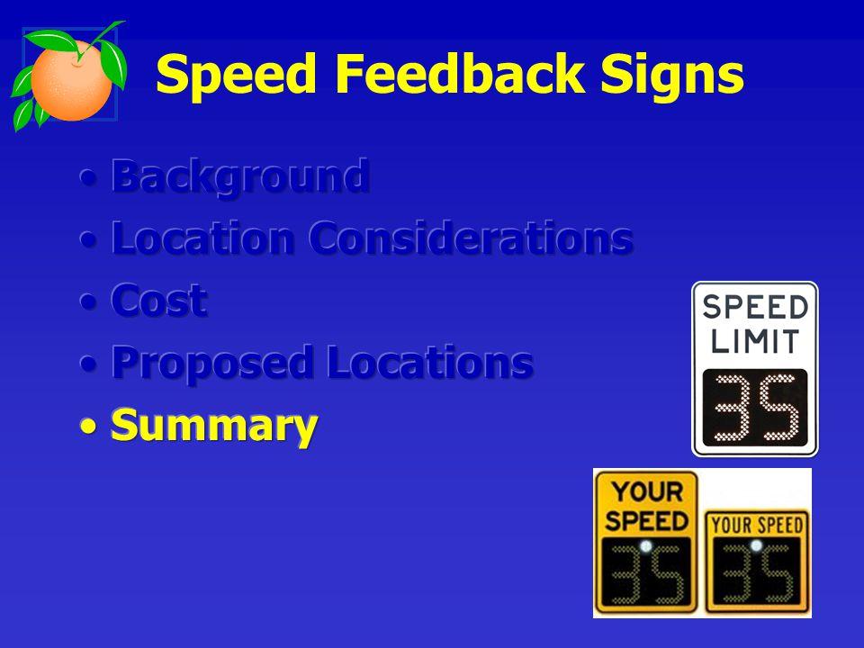 Speed Feedback Signs