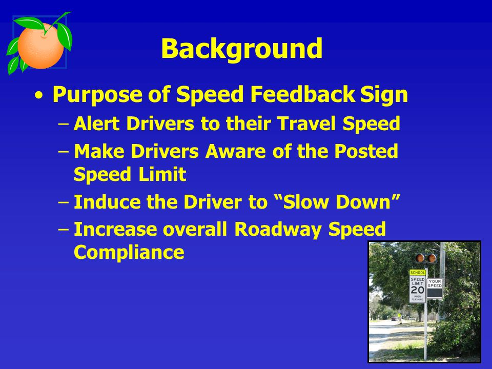 Speed Feedback Signs