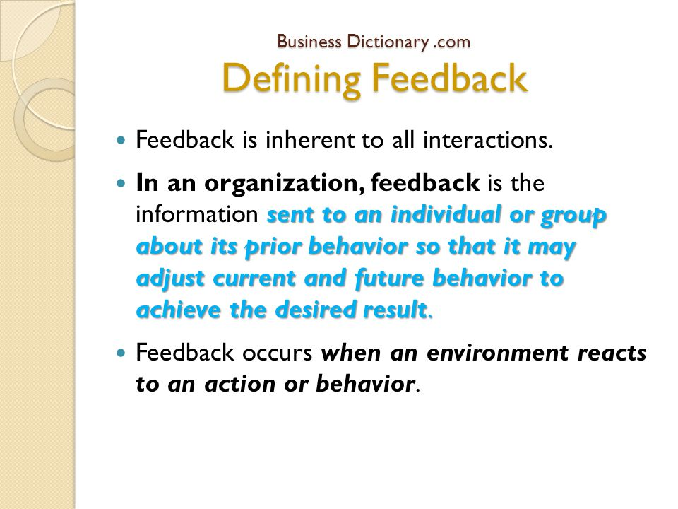 2. Create trusting relationships where feedback is nurtured and welcomed. Building Trust