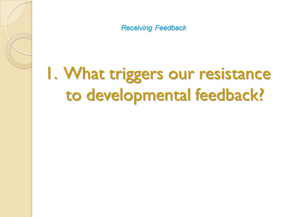 3. Offering effective feedback to others