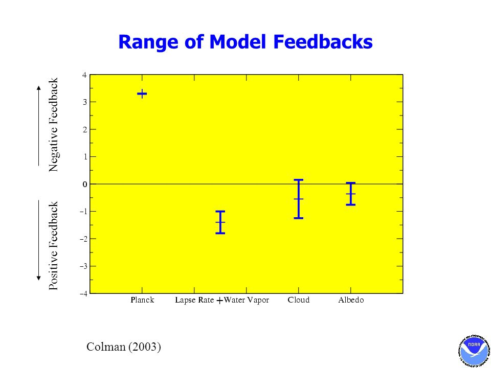 Range of Model Feedbacks + Negative Feedback Positive Feedback Colman (2003)