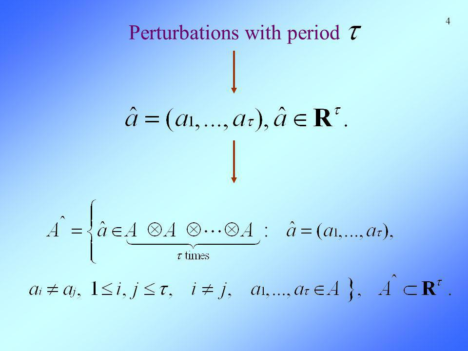 4 Perturbations with period