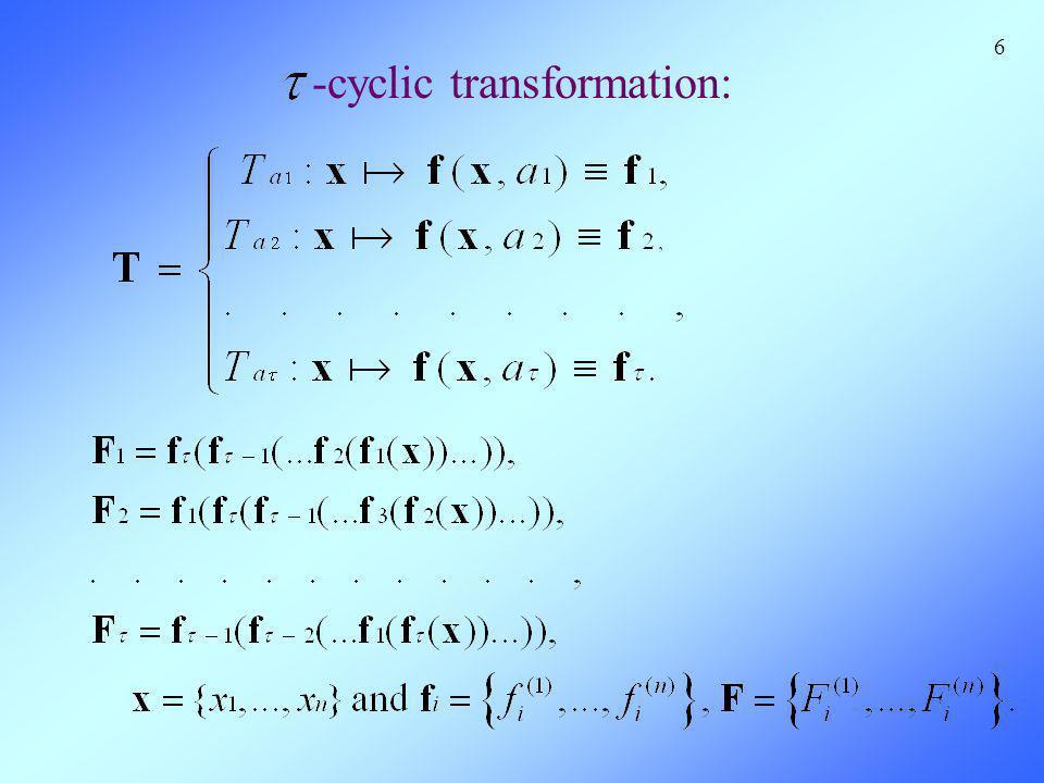 -cyclic transformation: 6